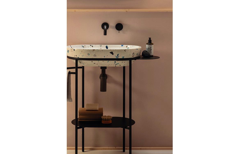 Ring Basin Pink Bathroom Interior