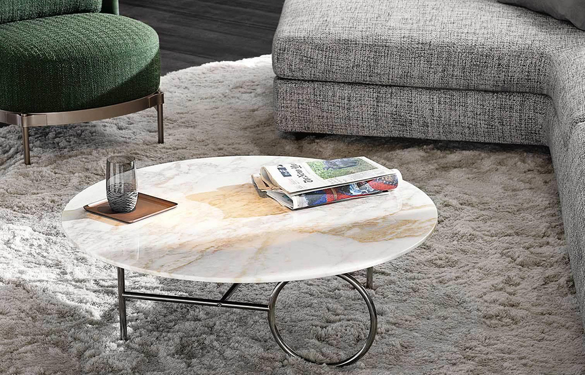 Habitus Loves Art Deco Resurgence ring coffee table by minotti