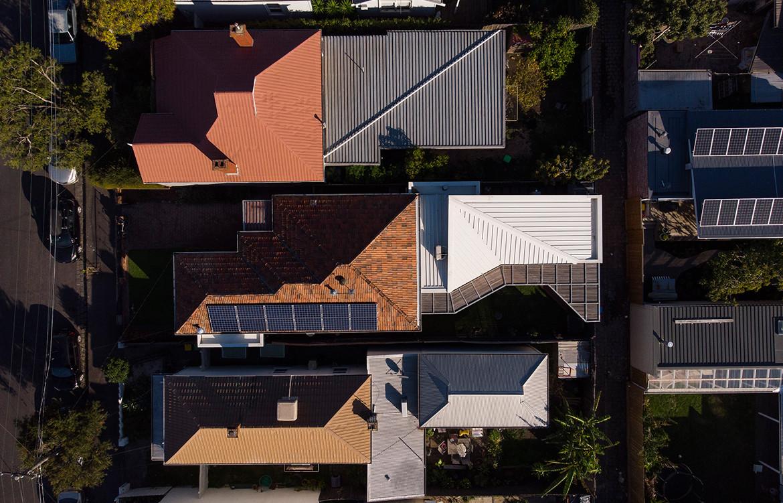 Allan Street House Gardiner Architects CC Rory Gardiner birds eye view