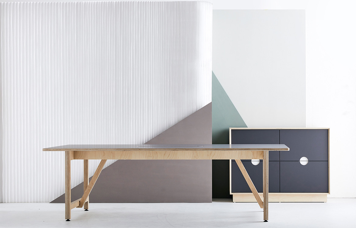 Rover Team Table Plywood Workstation from So Watt