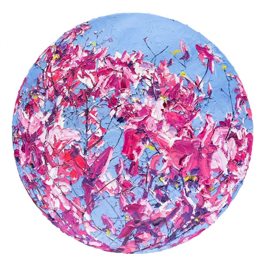 Royal-Midday-Magenta--153cm-Round-Oil-on-Linen