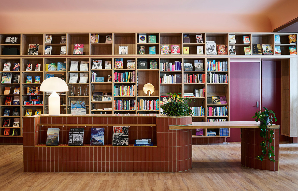 SJB Writes A New Chapter For UNSW Bookshop | bookshelf wall
