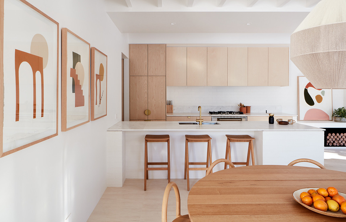 House Burch Those Architects Byron Bay Luc Rémond kitchen bench