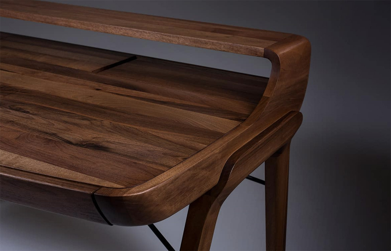 Picard Desk Dark Timber