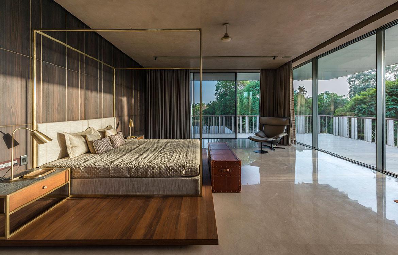 Secret Gardens House Spasm Architects bedroom