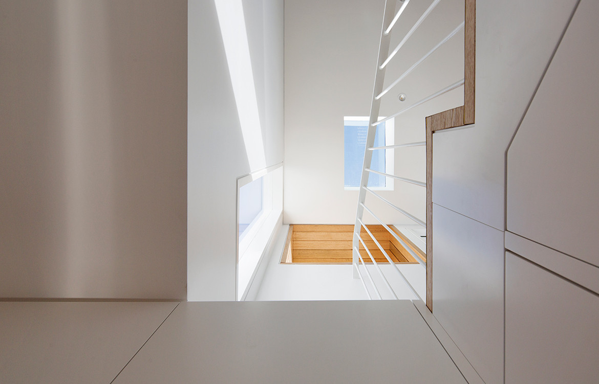 Shifted House by SSD Studio | semi-detached house | art deco beach house renovation | minimalist, beachy interior