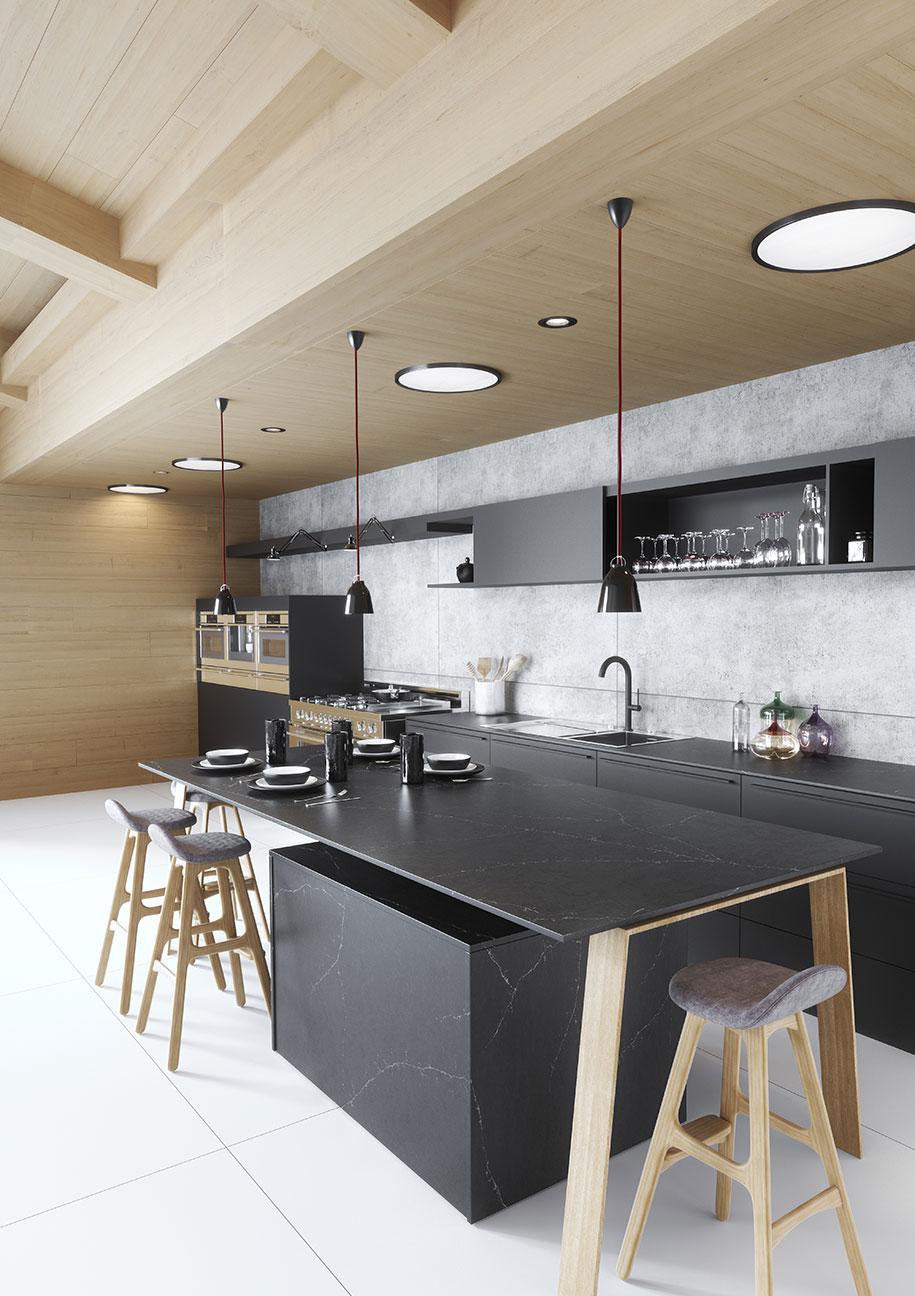 Silestone-Kitchen-Europea---Eternal-Charcoal-Soapstone