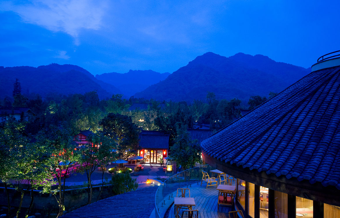 Six Senses Qing Cheng Mountain Dave Tacon nightscape