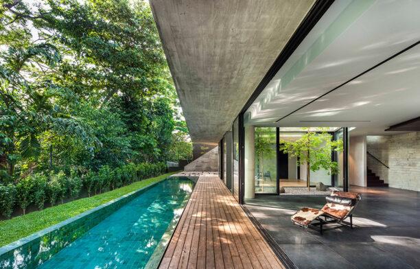 Stark House Park+Associates CC Edward Hendricks pool and basement area