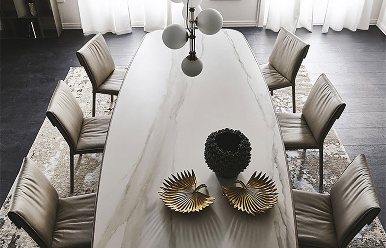 Stratos Keramik Premium Marble Top Table