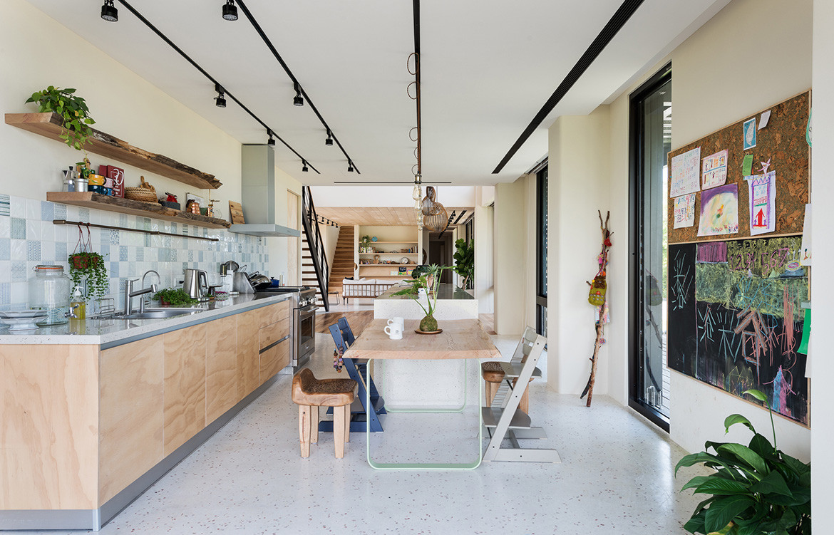 Symbiotic House C.H.I Design Studio CC Ivan Chuang kitchen