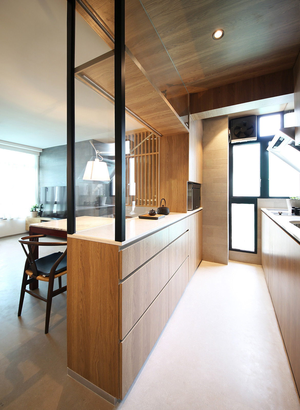 Taikoo Shing Apartment Studio Adjective kitchen bench