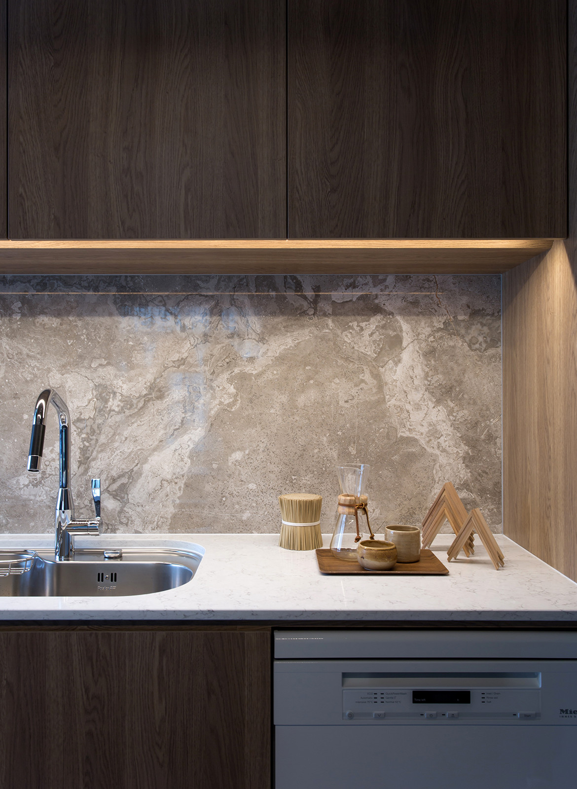 Taikoo Shing Apartment Studio Adjective kitchen splashback