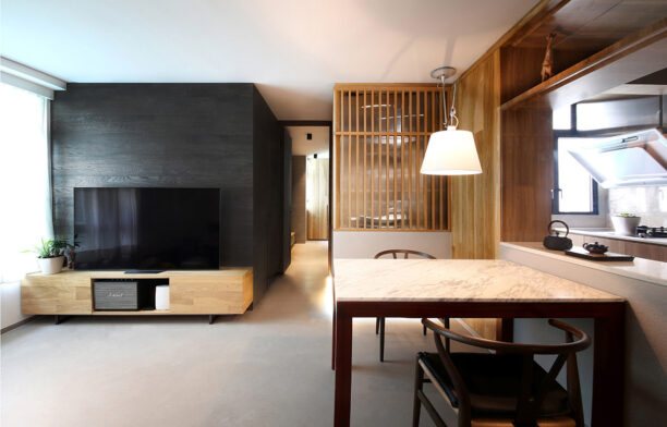 Taikoo Shing Apartment Studio Adjective living and dining space open