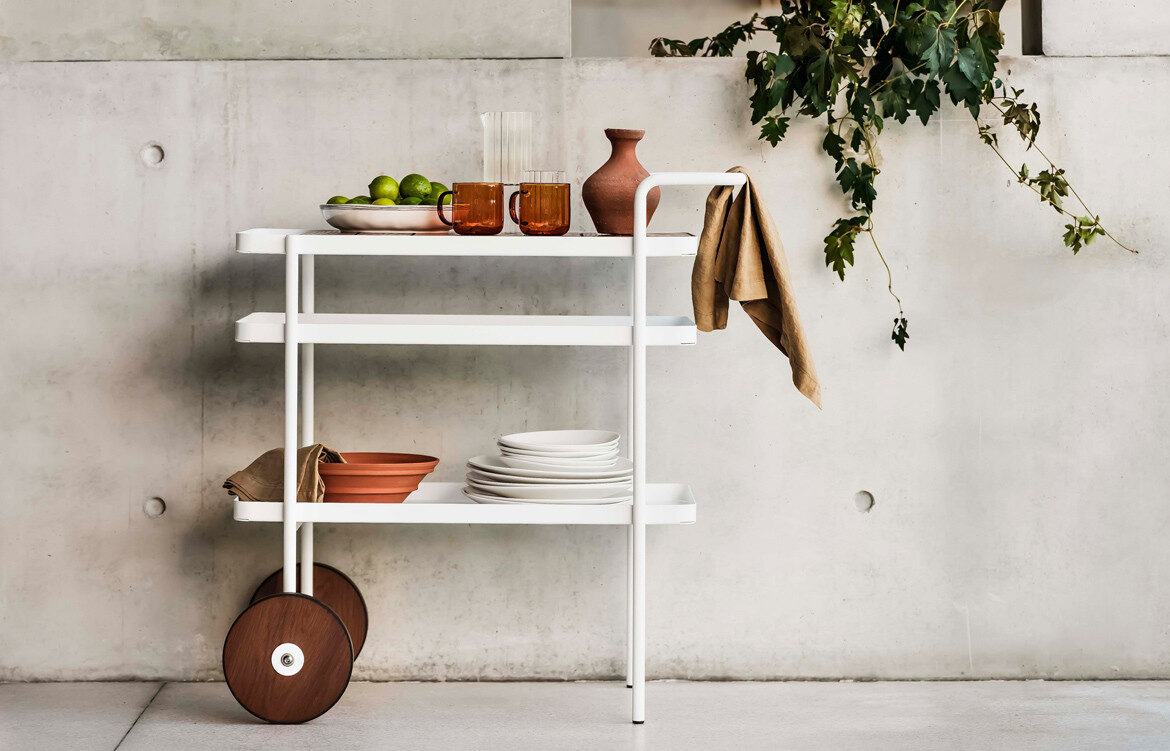 Summer entertaining with Trace drinks trolley from Tait