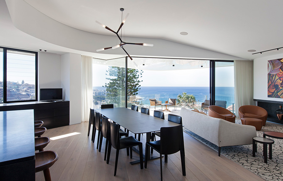 Tamarama House Porebski Architects dining room