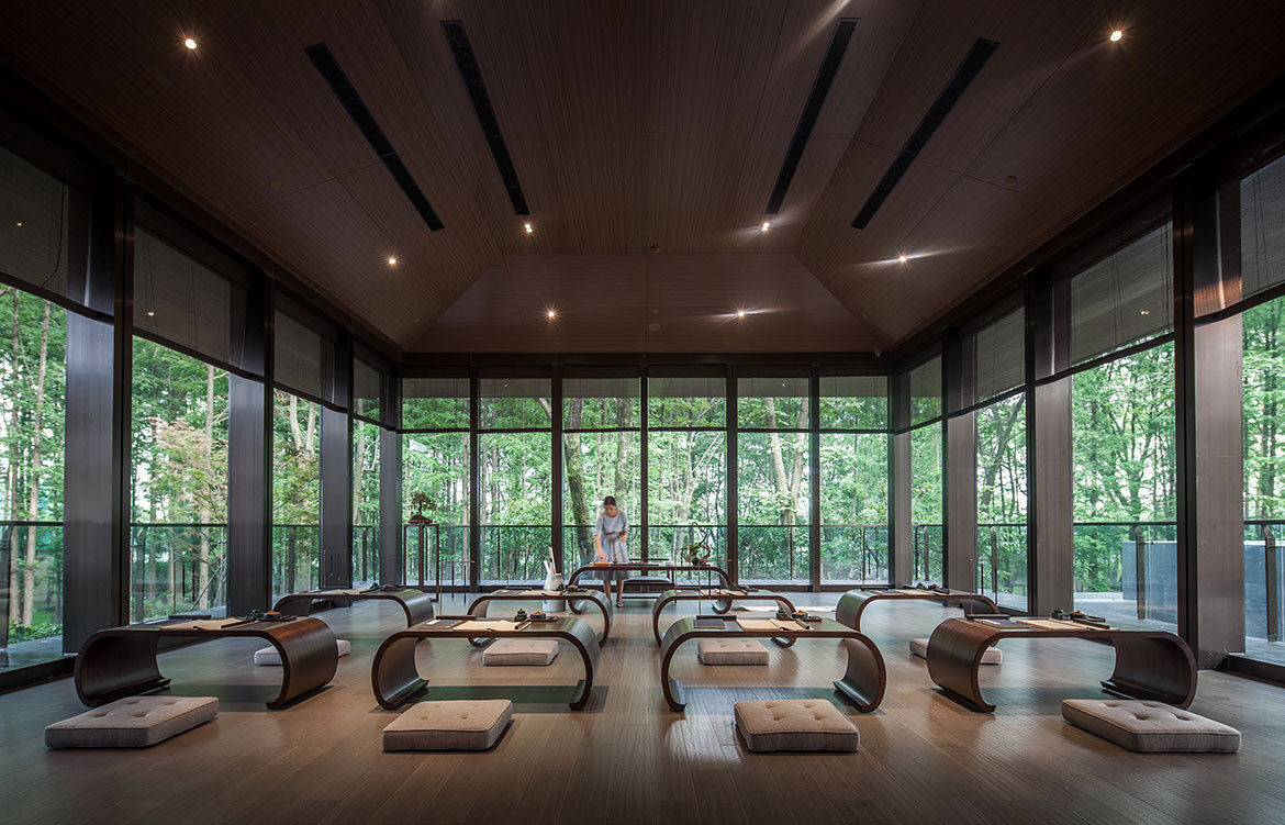 Tao Hua Yuan Tea House CL3 Architects cc Nirut Benjabanpot Chinese national culture room