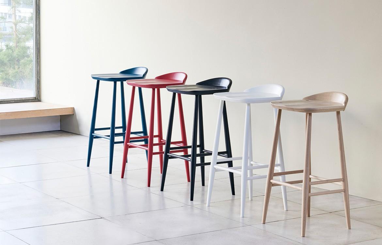Temperature Design Ercol bar stool colours