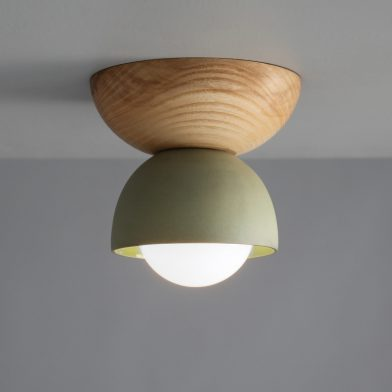 Terra 00 ceiling light by Marz Designs and Grit Ceramics