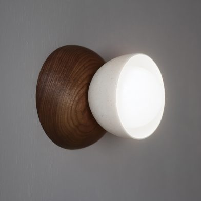 Terra 00 wall sconce by Marz Designs and Grit Ceramics