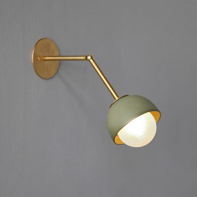 Terra 0 wall light by Marz Designs and Grit Ceramics