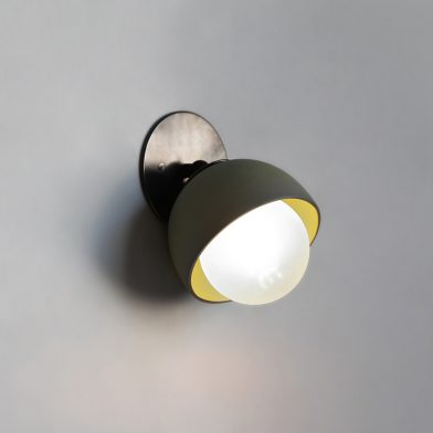 Terra 0 wall sconce by Marz Designs and Grit Ceramics
