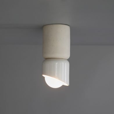Terra 1.5 ceiling light by Marz Designs and Grit Ceramics