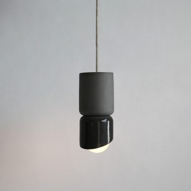 Terra 1.5 pendant light by Marz Designs and Grit Ceramics