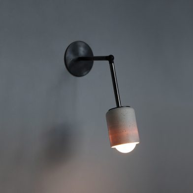 Terra 1 long arm wall light by Marz Designs and Grit Ceramics