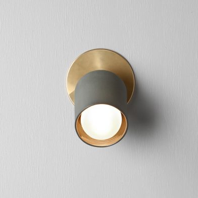 Terra 1 wall sconce by Marz Designs and Grit Ceramics
