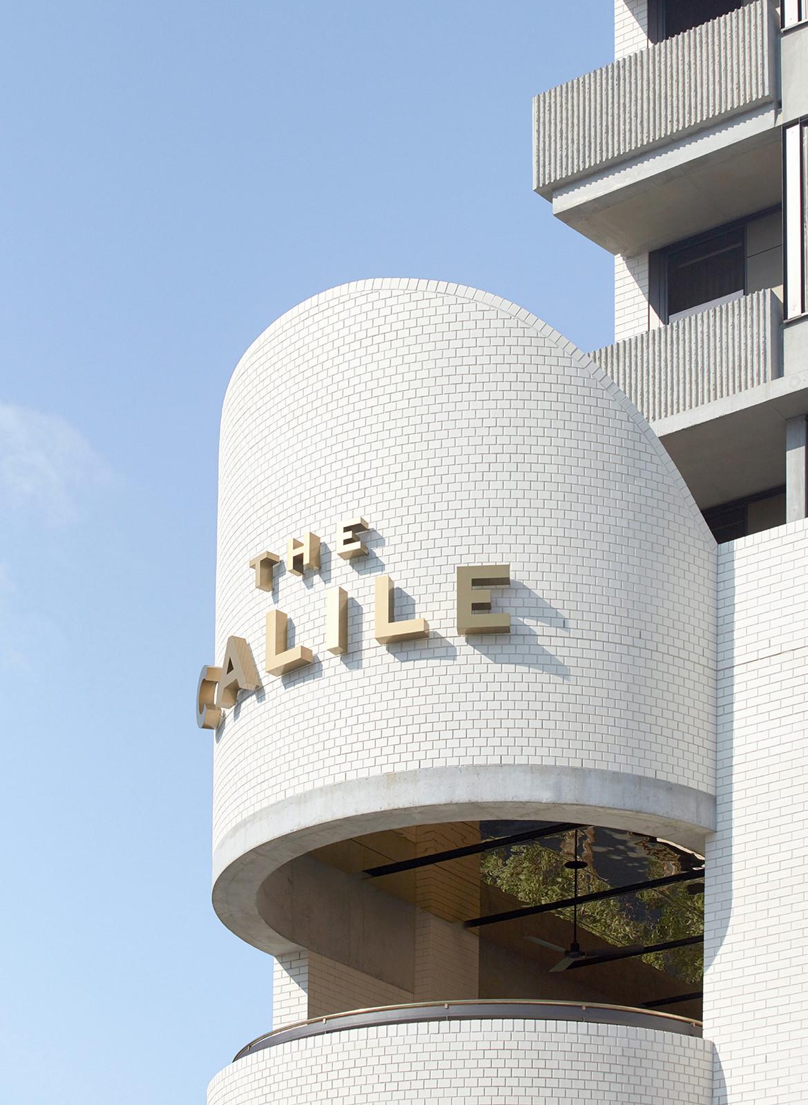The Calile Hotel Richards & Spence CC Sean Fennessy design brickwork title wayfinding detail