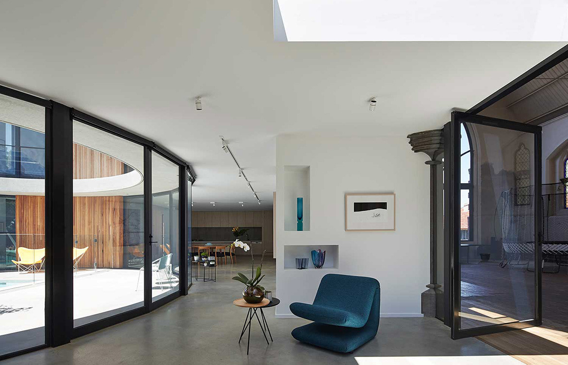 The Courtyard House Kister Architects The Living Space Gaggenau INDE.Awards Home