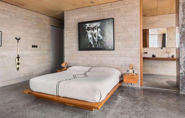 The Slow Bali GFAB Architects bedroom bathroom
