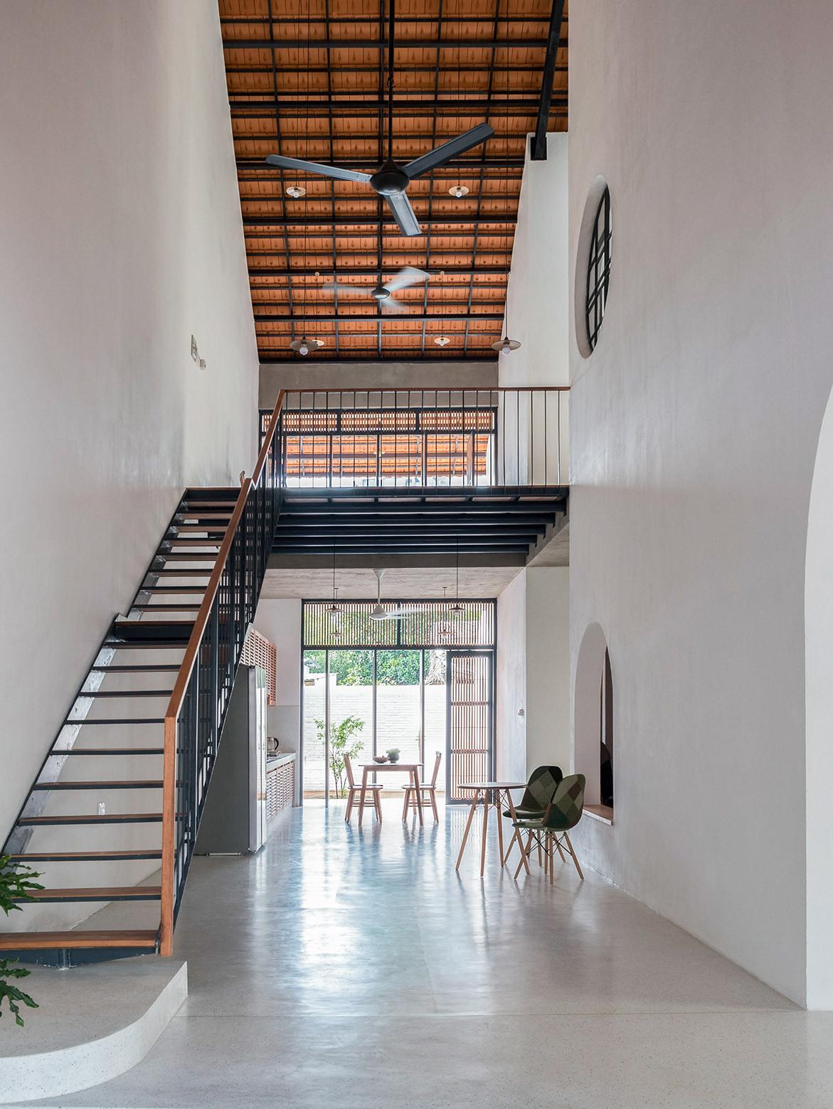 Tile Roof House Vietnam K59 Atelier | entry foyer