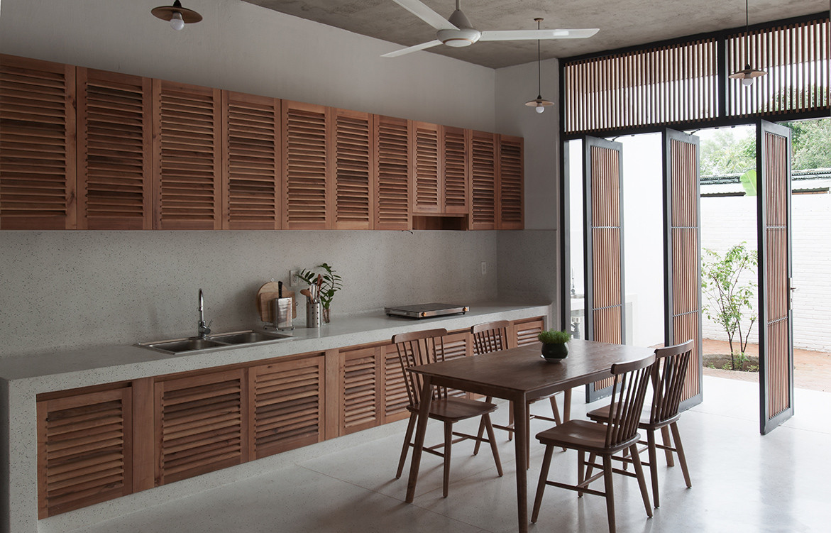 Tile Roof House Vietnam K59 Atelier | kitchen cabinetry