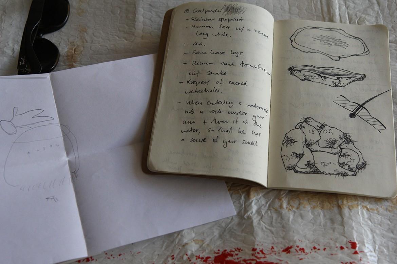 Trent Jansen Mangkala Indigenous Collective sketching