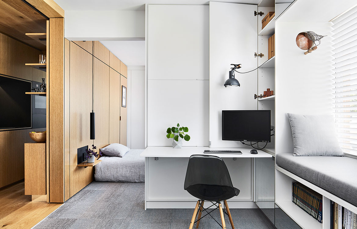 Type Street Apartment Tsai Design cc Tess Kelly study space