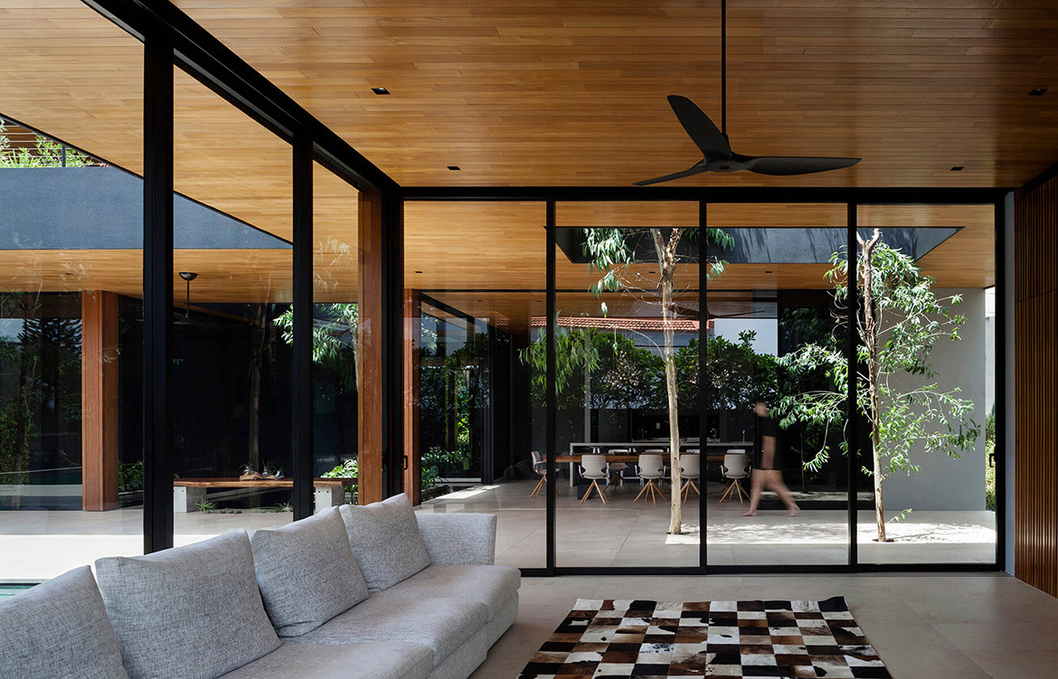 Verandah House Formwerkz Architects cc Fabian Ong lounge room