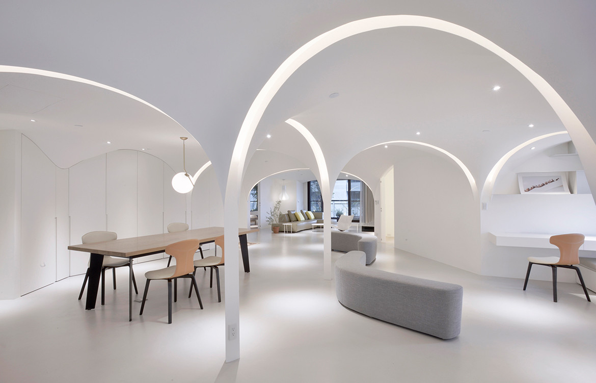 Very Studio | Che Wang Architects Sunny Apartment Taiwan curved