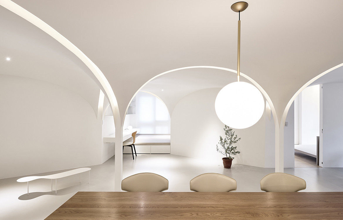 Very Studio | Che Wang Architects Sunny Apartment Taiwan dining details pendant lighting chairs