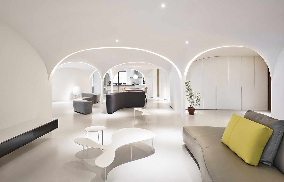 Very Studio | Che Wang Architects Sunny Apartment Taiwan dome arc ceiling