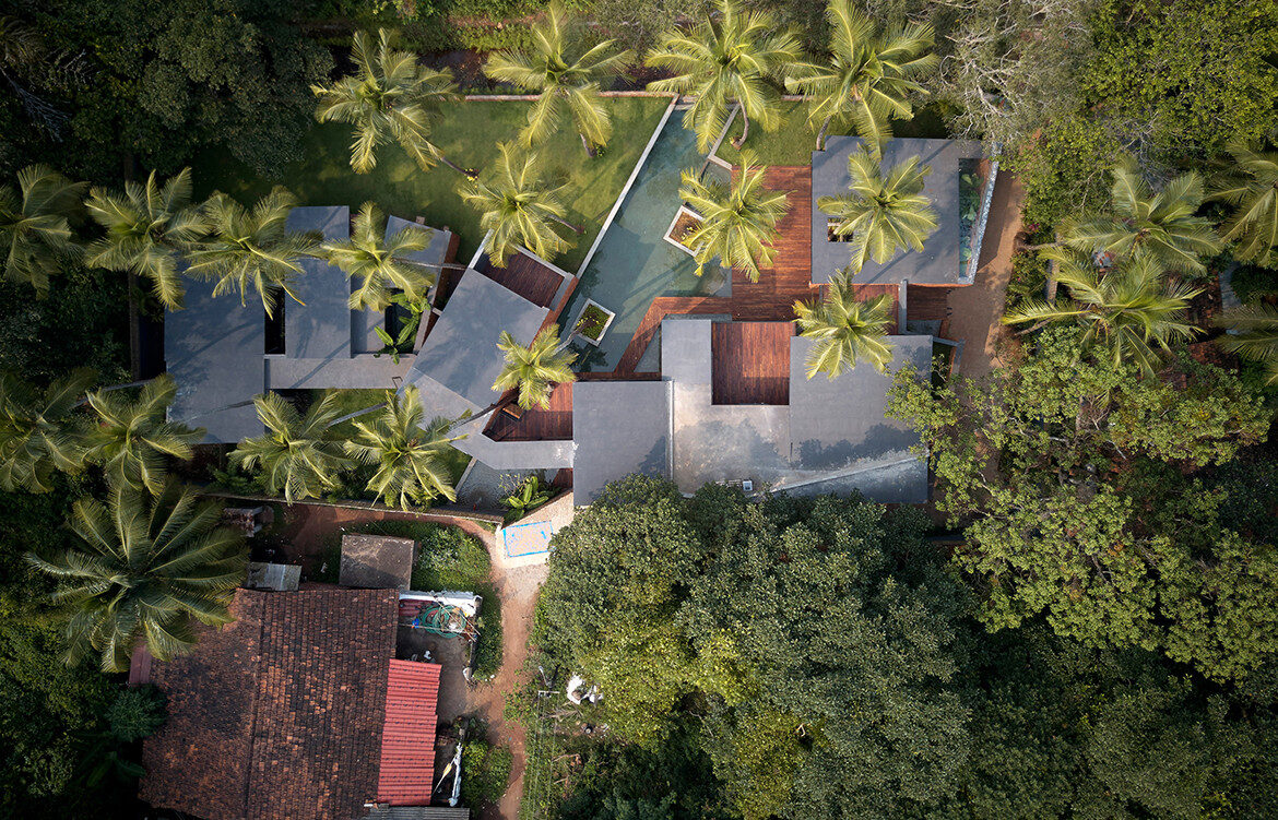 Villa In The Palms Abraham John Architects aeriel view