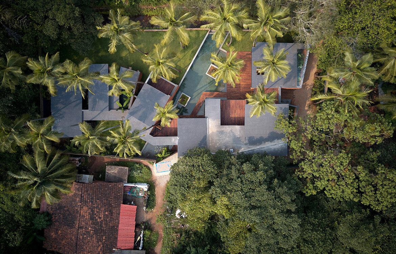 Villa In The Palms Abraham John Architects aeriel view