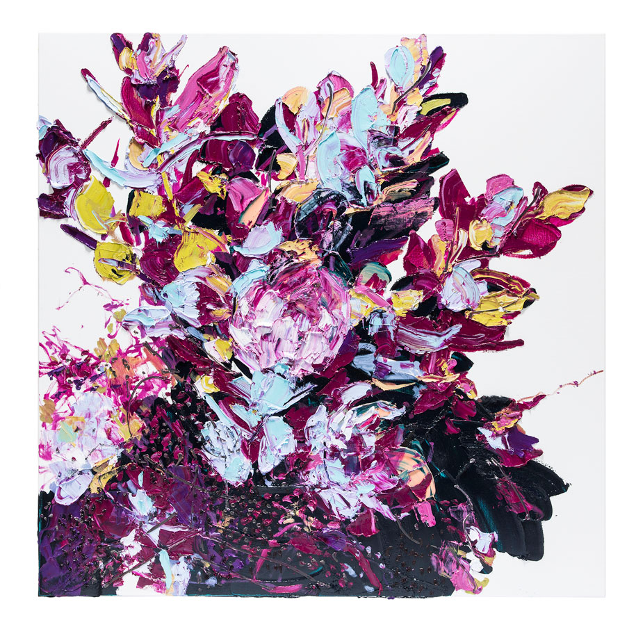Violet-Quin-Gold-153x153cm-Oil-on-Linen