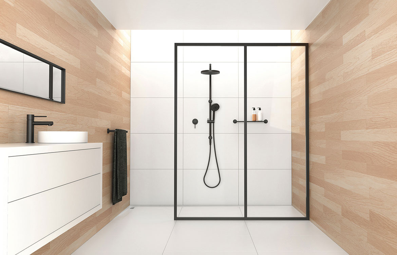 Vivid Residential Bathroom Interior Shower