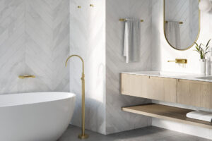 Vivid Slimline Oval Bathroom Interior