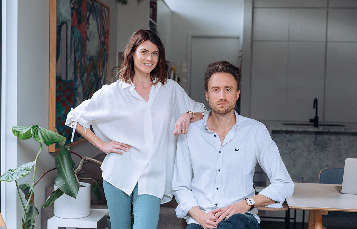 Suze Raymond and Christoffer Kjærgård, the founders behind WORKS Melbourne,