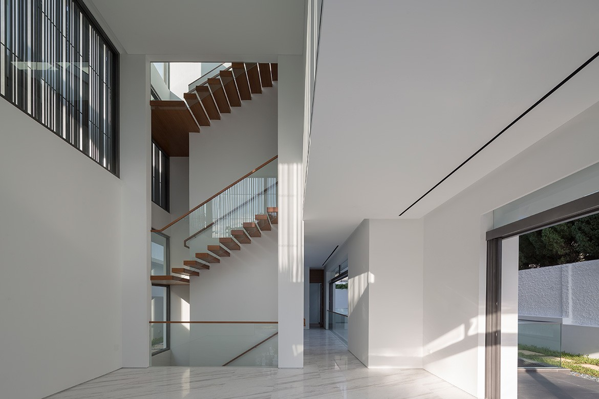 Wallflower Architecture Design Namly View House Photography by Marc Tey staircase side