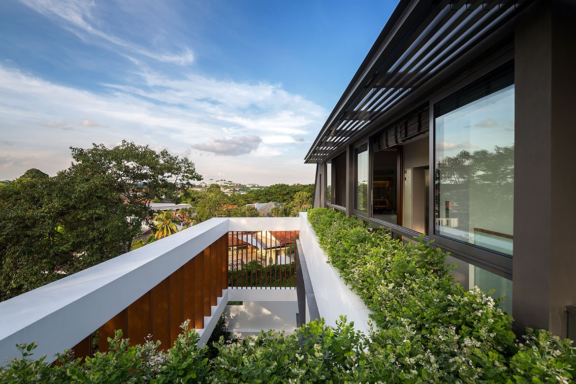 Wallflower Architecture Design Namly View House Photography by Marc Tey balcony