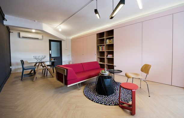 Pink and Mint Apartment by Wynk Collaborative